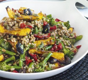 Barley and squash salad